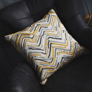 Tangier Hand Embellished Cushion Ochre