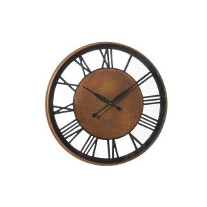 Rust & Black Roman Wall Clock