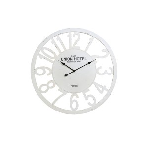 Antique White Union Hotel Round Wall Clock