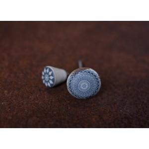 Amadi Teal Ceramic Knob - Large 3.5cm dia 1