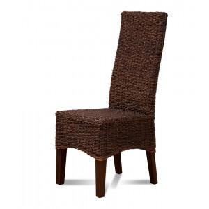 Antonio Rattan Dining Chair - Dark Leg 1