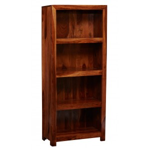 Cube Sheesham Tall Bookcase 1