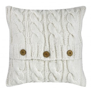Ivory Cable Knit Cushion 1