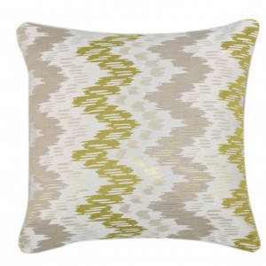 Green Abstract Zig Zag Cushion 1
