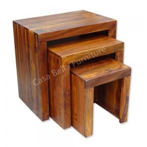 Cuba Sheesham Nest of Tables 1