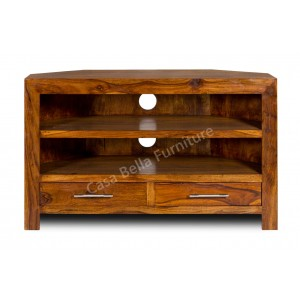 Cuba Sheesham Corner TV Unit 1