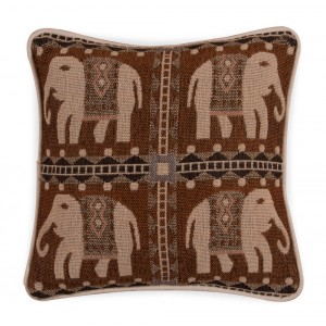 Small Jacquard Cushion - Elephant 1217 1