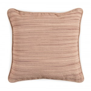 Large Jacquard Cushion - Beige Stripe 5060 1