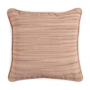 Large Jacquard Cushion - Beige Stripe 5060 1