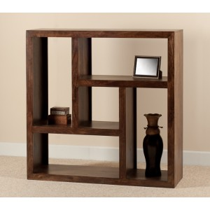 Mango Walnut Low Open Bookcase-Shelving Unit 1