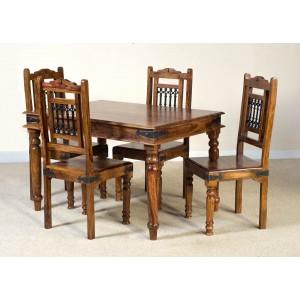 Jali Sheesham 4-Seater Dining Set 1