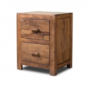 Kashmir Stonewashed Sheesham Bedside Table 1