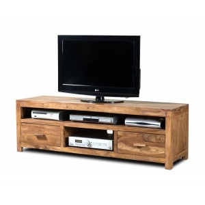 Kashmir Stonewashed Sheesham Large Media Unit 1