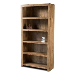 Kashmir Stonewashed Sheesham Tall Bookcase 1