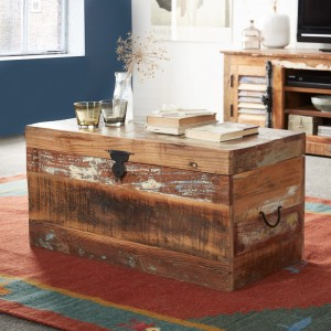Reclaimed Indian Storage Trunk 1