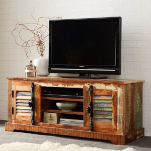 Reclaimed Indian Wide TV Cabinet 1