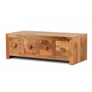 Dakota Light Mango 8-Drawer Coffee Table 1