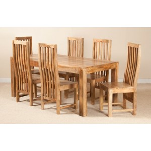 Dakota Light Mango 6-Seater Dining Set 1