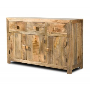 Dakota Light Mango Large 3 Door Sideboard 1