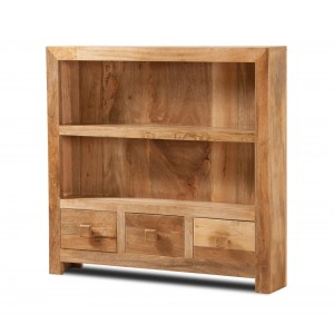 Dakota Light Mango Thin Bookcase 1