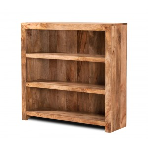 Dakota Light Mango Small Bookcase 1
