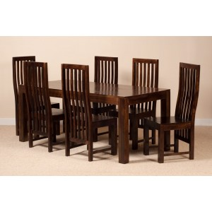Dakota Dark Mango 6 Seater Dining Set 1
