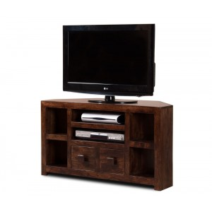 Dakota Dark Mango Corner TV Unit 1