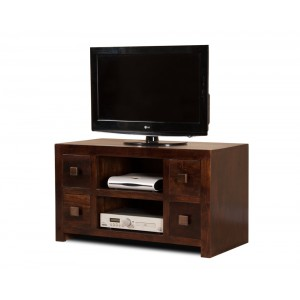 Dakota Dark Mango Large TV Unit 1
