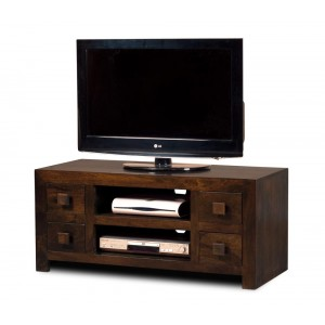 Dakota Dark Mango Low TV Unit 1