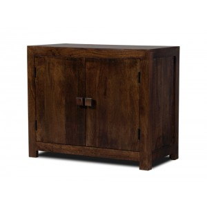 Dakota Dark Mango Small 2-Door Sideboard 1
