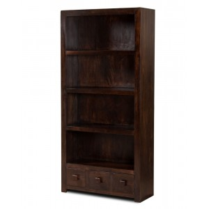 Dakota Dark Mango Tall Bookcase 1
