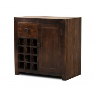 Dakota Dark Mango Wine Cabinet 1