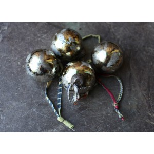 Antique Gold Baubles (Set of 4)