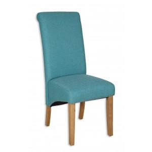 Aqua Fabric Dining Chair - Light Legs (Clearance)