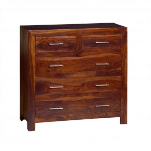 Cube Sheesham Large Chest Of Drawers 1