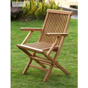 Wiltshire Teak Folding Armchair 1