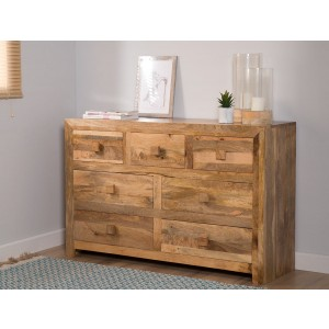 Dakota Light Mango Large Dresser 1