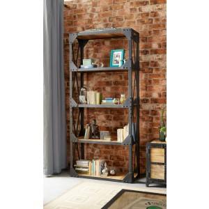 Imari Industrial Mango Large Bookcase