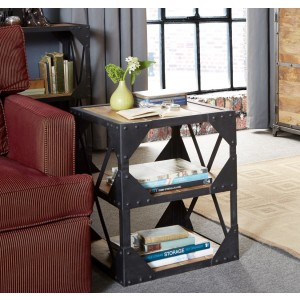 Imari Industrial Mango Side Table/Multimedia Cabinet