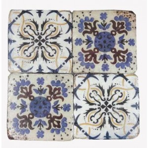 Blue Stone Coasters Set of 4