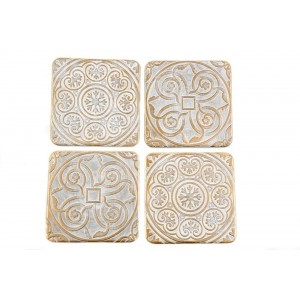 Gold Stone Coasters Set of 4