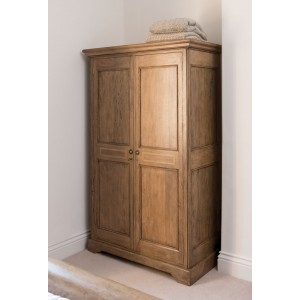 Florence Mango and Stone Double Wardrobe 1