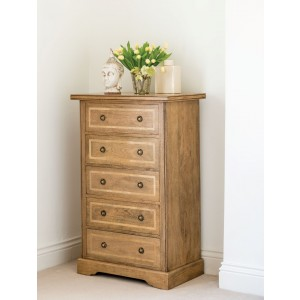 Florence Mango and Stone Tall 5 Drawer Chest 1