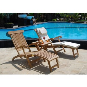 Twin Hampton Teak Steamer Set 1