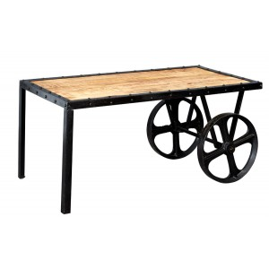 Imari Industrial Mango Cart Coffee Table