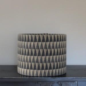 30cm x 24cm Chalk Wovens Grey Prism Drum