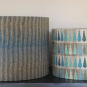 30cm x 24cm Chalk Wovens Turquoise Beacon Drum