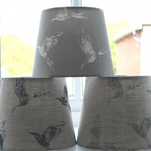 40cm x 30cm Grey Bollin Bird Drum