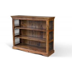 Jali Sheesham Wide Bookcase
