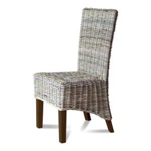 Kubu Rattan Dining Chair - Dark Leg